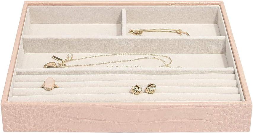 Stackers Lot de 4 bo/îtes /à bijoux classiques de taille moyenne Rose p/âle et or champagne