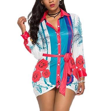 Camisa de Vestir de Las Mujeres Ocasionales botón Lazo Flojo ...