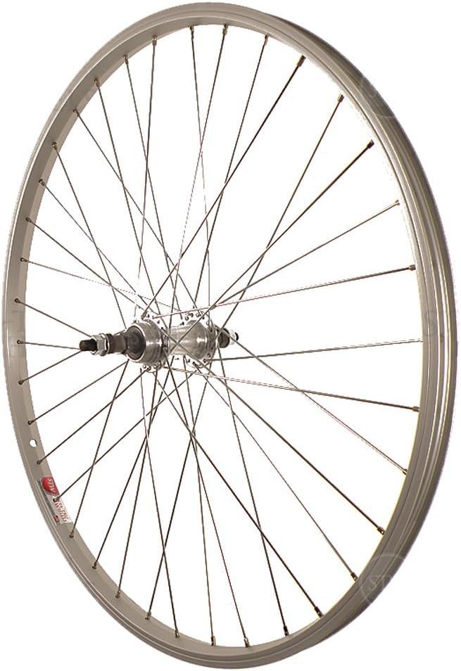 Sta Tru Silver Rear Mountain Bike Wheel