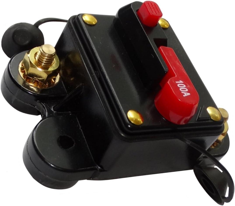 300A 12V 24V 32V 48V fusible automatique disjoncteur 78x52x37mm IP67 ampli amplificateur auto voiture C14617 AERZETIX