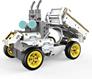 UBTECH JIMU Robot Builderbots Series: Overdrive Kit / App-Enabled Building and Coding STEM Learning Kit (410 Parts and Connec