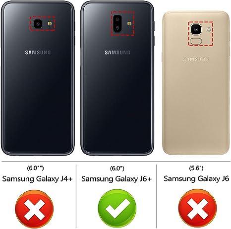 Peakally Funda Samsung Galaxy J6 Plus, Transparente Silicona Funda ...