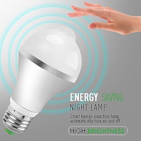 Bombillas LED, mytlp PIR Detector de movimiento por infrarrojos Sensor Bombilla Ahorro de energía bombilla