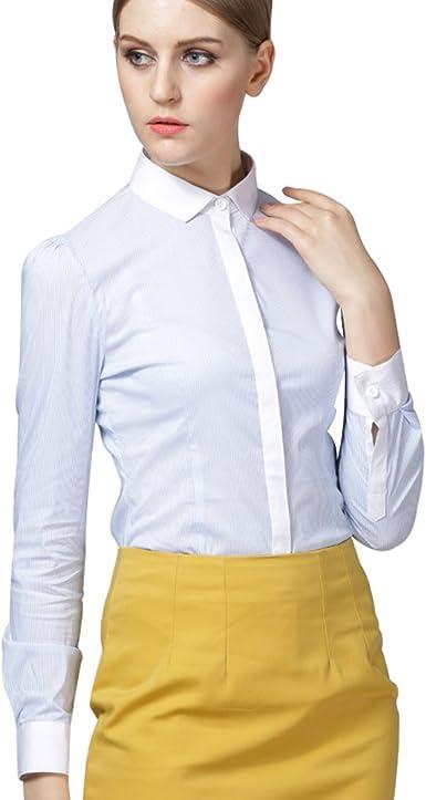 ZAMME Camisa de la Oficina de señora clásico de Verano ...