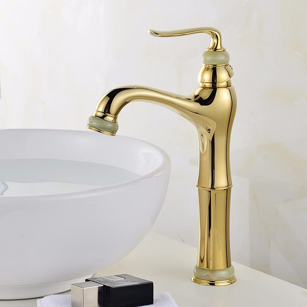 European-Style Chrome-Plated Copper Water tap Bathroom Mixer Wash Your face