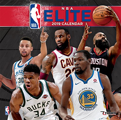 Turner 1 Sport NBA Elite 2019 12X12 Wall Calendar Office Wall Calendar (19998011969)