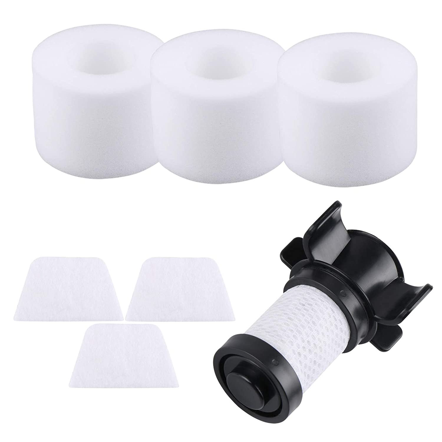 Aunifun Filters for Shark IONFlex 2X DuoClean Cordless Ultra-Light Vacuum IF251 IF252 IF205 IF202 IF201 IC205 Replacement XPREMF100 IC205 Replacement XPREMF100 (1 HEPA Filter and 3 Foam Filters)