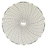 "Dickson C405 Circular Chart, 8""/203mm Diameter, 7-Day Rotation, -0.1/0.1 Range (Pack of 60)"