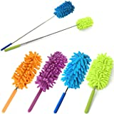 SMALL Telescopic Flexible Extending Microfiber Duster, Long-Reach Washable Dusting Brush 1 Piece (SMALL)