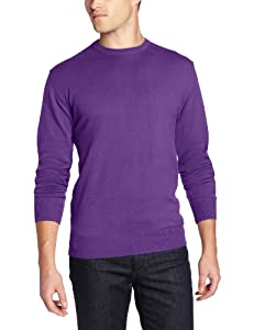 French Connection Men's Garment Dyed Auderly Crew,  Stephen'S Purple,  Large
