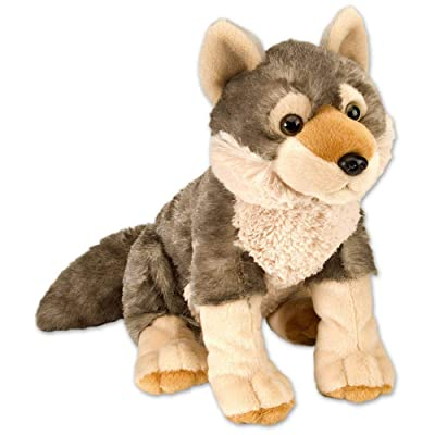 Wild Republic Wolf Plush, Stuffed Animal, Plush Toy, Gifts for Kids, Cuddlekins 12 Inches: Wild Republic: Toys & Games