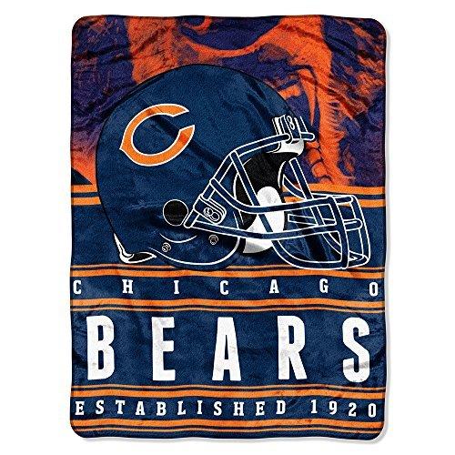 "Northwest NFL Chicago Bears Stacked Silk Touch 60"" x 80"" ..."