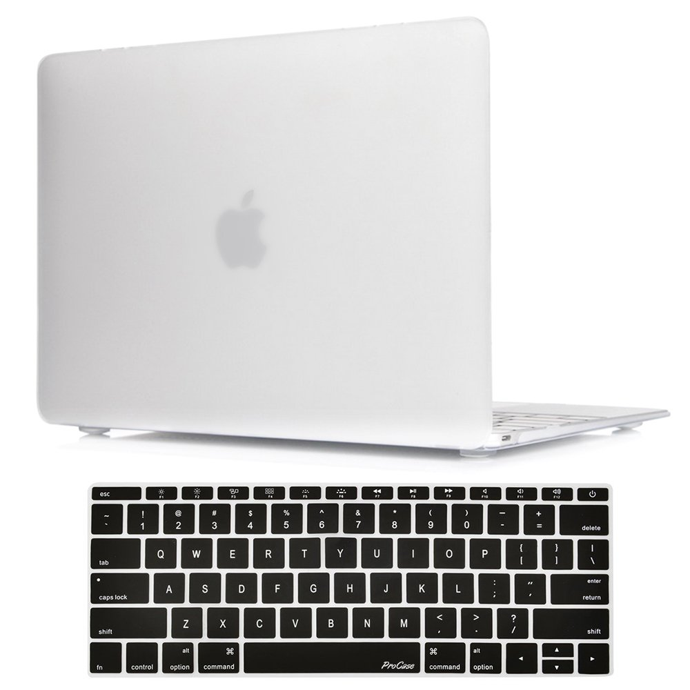 ae27edffbaba ProCase MacBook 12 Inch Case A1534, Hard Case Rubberized Shell Cover with  Silicone Keyboard Skin Cover for Apple MacBook 12
