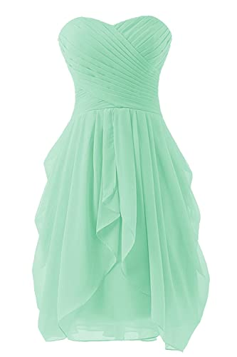 Bbonlinedress Short Chiffon Sweetheart Bridesmaid Prom Party Dresses