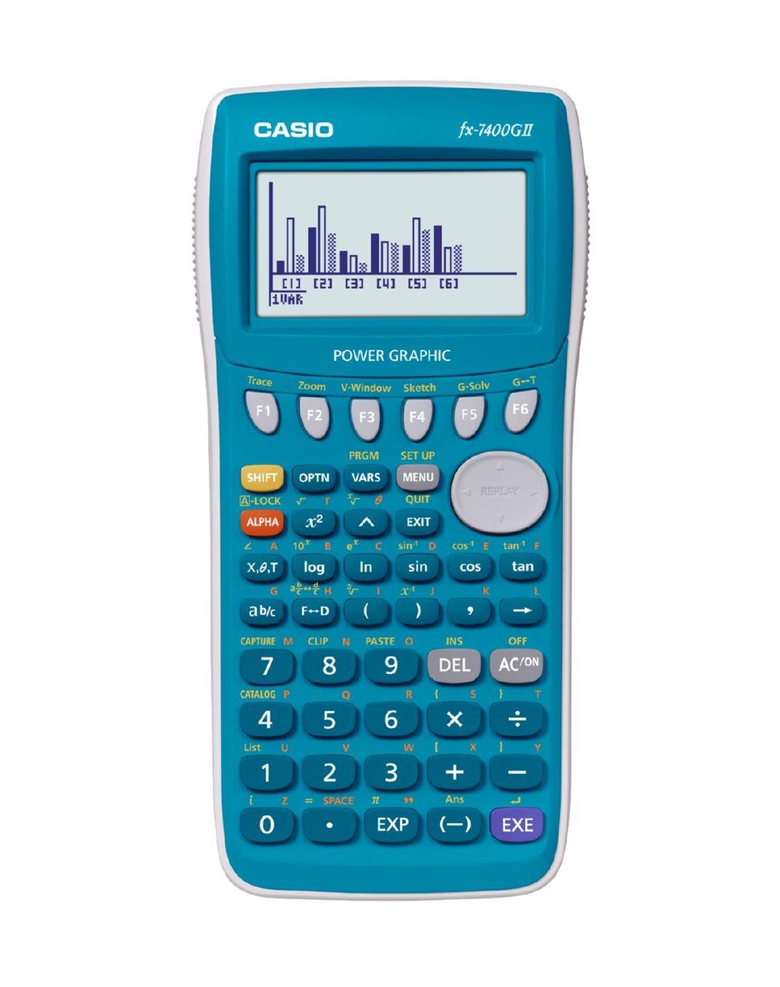 Casio FX-7400GII Tasca Calcolatrice finanziaria Grigio calcolatrice