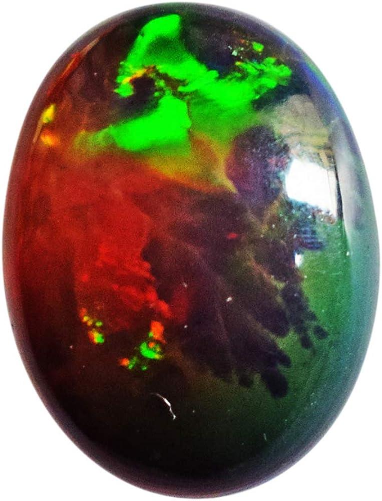 Cabujón de ópalo negro natural de grado AAAA+, ópalo etíope welo, tamaño 17 x 12 x 5 mm, parte trasera plana, pulido suave, ópalo brillante para anillo, cabina AG-14259