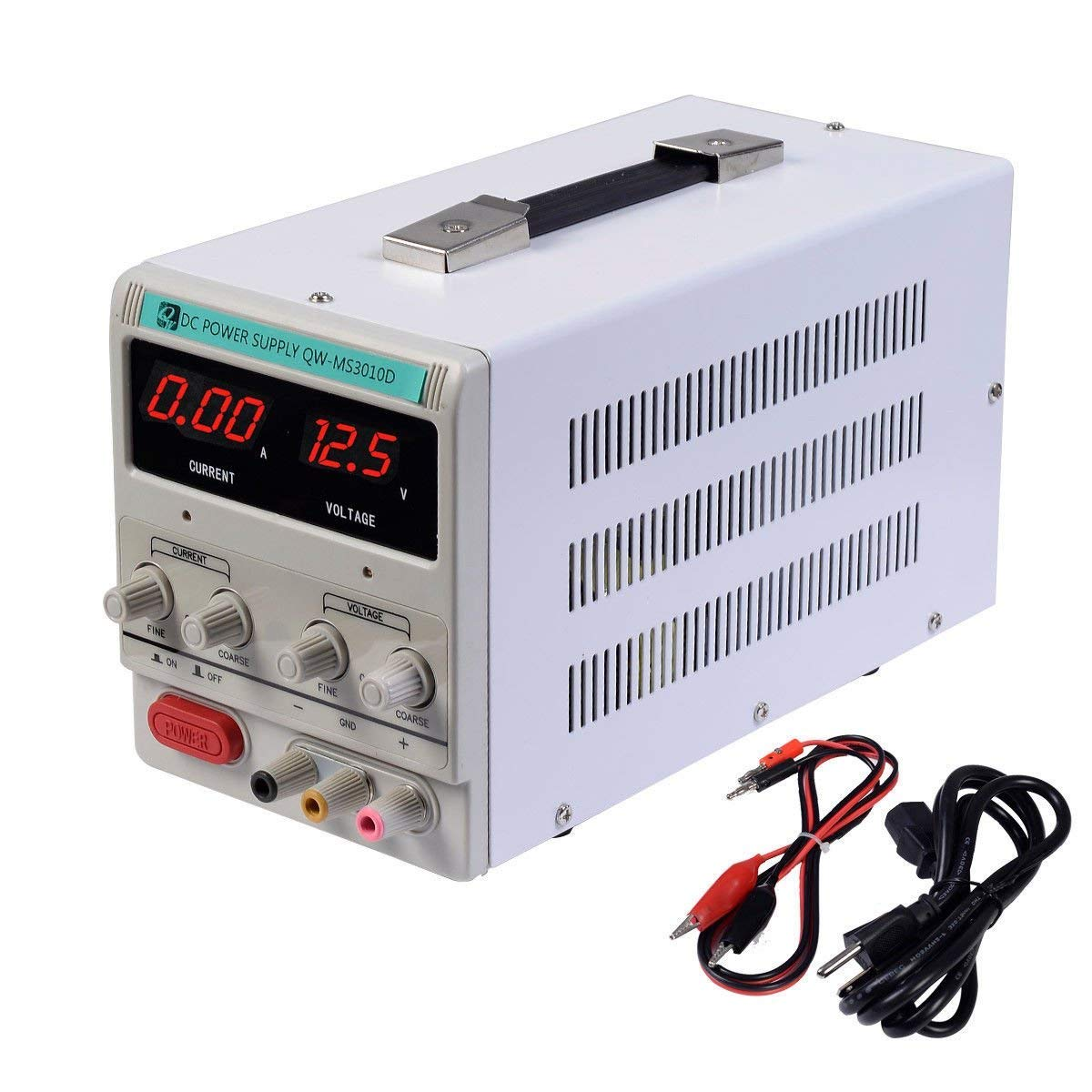 Variable Adjustable Lab DC Bench Power Supply 0-30V 0-10A -US Power Cord by CZJUN