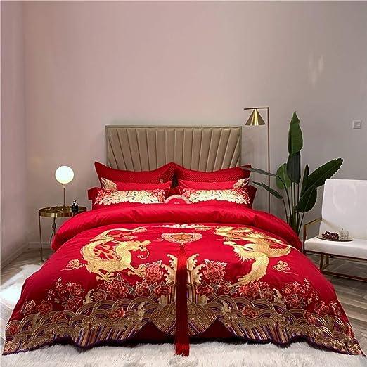 Wenh Boda Cama determinada 100S algodón Egipcio Loong Phoenix del ...