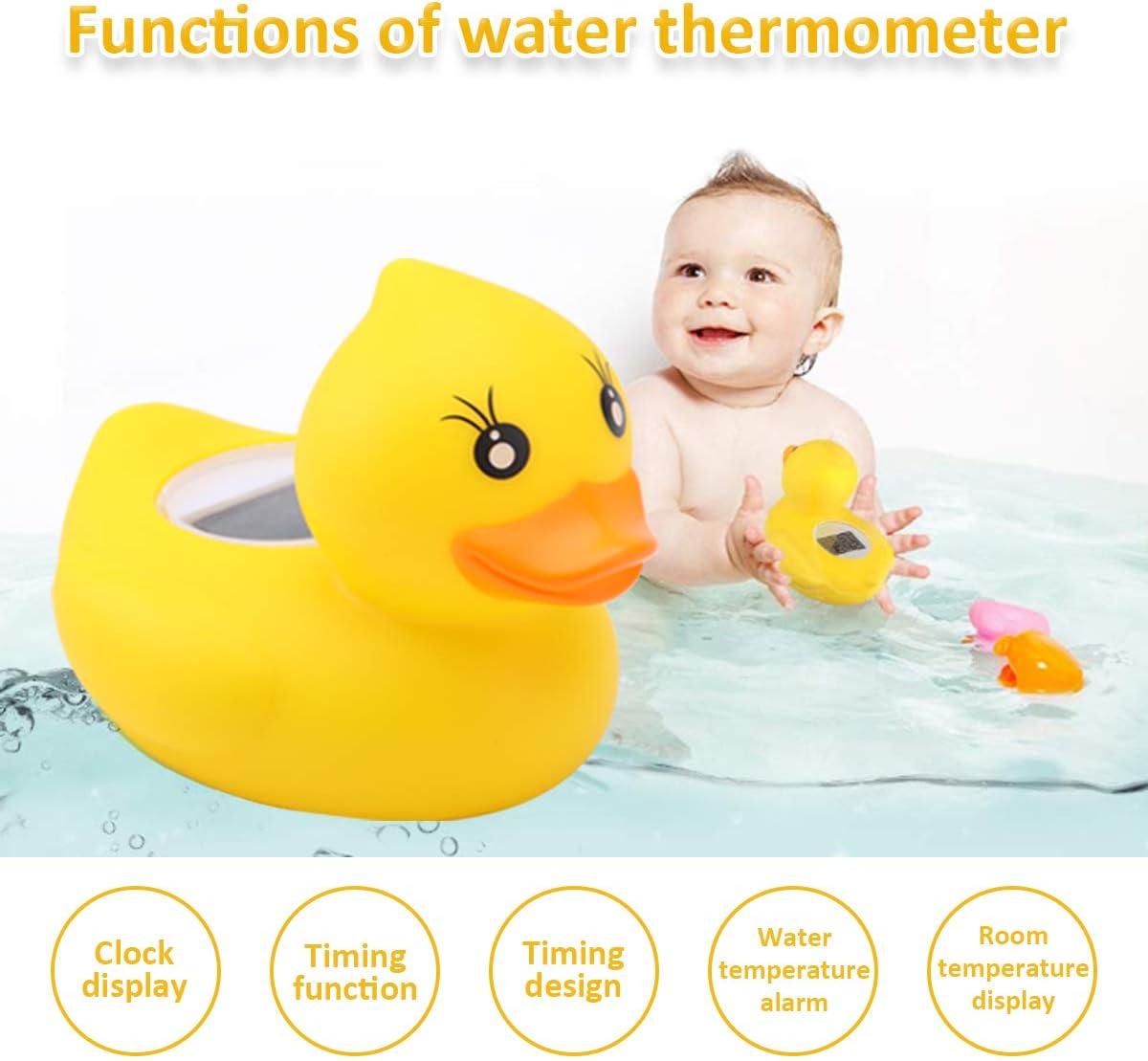 BabyElf Thermom/ètre de bain pour b/éb/é en forme de canard avec avertissement LED intelligent