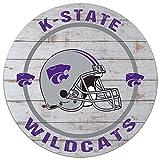 KH Sports Fan 20''x 20'' Kansas State Wildcats Helmet Weathered Circle Sign