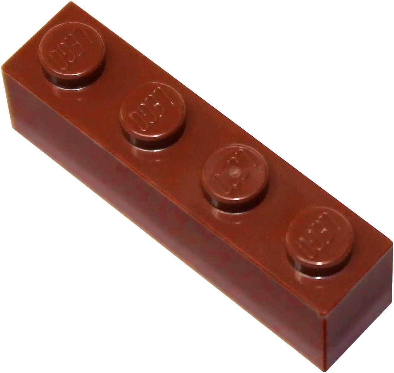 LEGO Parts and Pieces: Reddish Brown 1x4 Brick x100