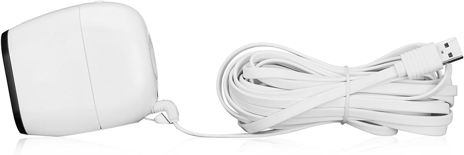 Arlo Pro 2 Weatherproof- White Charging//Power Cord Arlo Pro Online-Enterprises 20 Foot Flat Cord- Super Charging Power Cable- Fits Arlo GO -Indoor//Outdoor Flat Cable