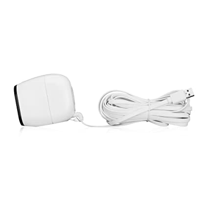 Online-Enterprises 20 Foot Flat Cord- Super Charging Power Cable- Fits,  Arlo Pro, Arlo Pro 2, Arlo GO -Indoor/Outdoor Flat Cable, Weatherproof-  (White