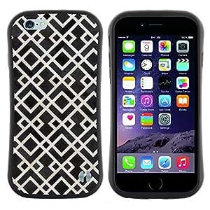 "Hypernova Slim Fit Dual Barniz Protector Caso Case Funda Para Apple (4.7 inches!!!) iPhone 6 / 6S (4.7 INCH) [Modelo blanco Negro Vintage Wallpaper""]"