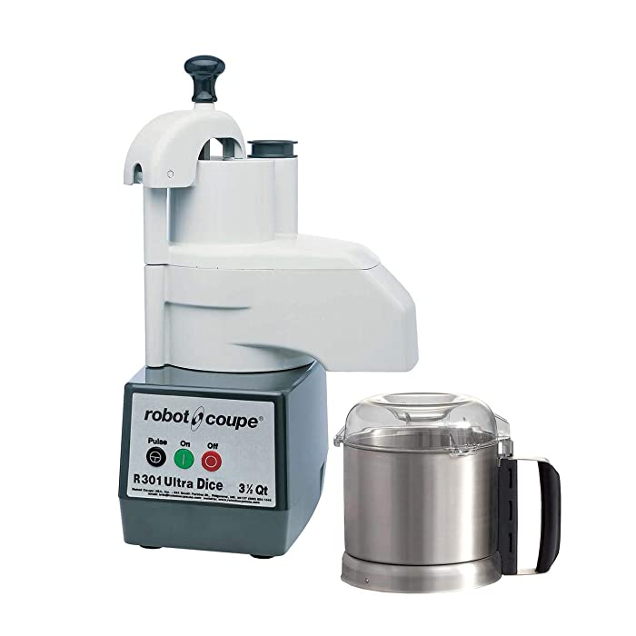 Robot Coupe R301 DICE Ultra D Series Combination Food Processor, 3.7-Liter Bowl, Stainless Steel, 120v
