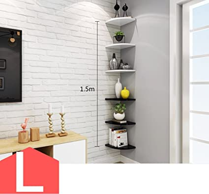 Amazon.com: CSQ Living Room Corner Rack, Creative Corner Shelf On ...