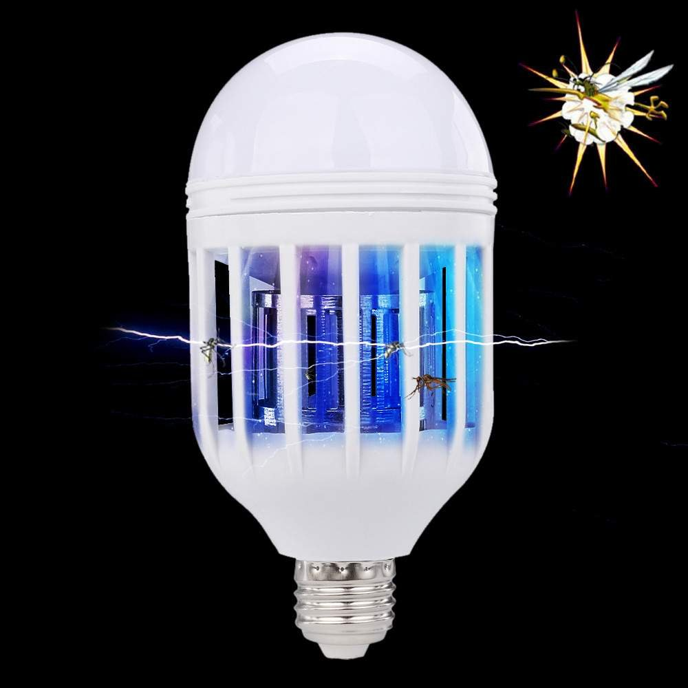 QUICKLYLY Nuevo bulbo LED anti-mosquito Electronic Insect Fly Lure Bulbo de la muerte 15W 1000LM 6500K (Blanco): Amazon.es: Hogar