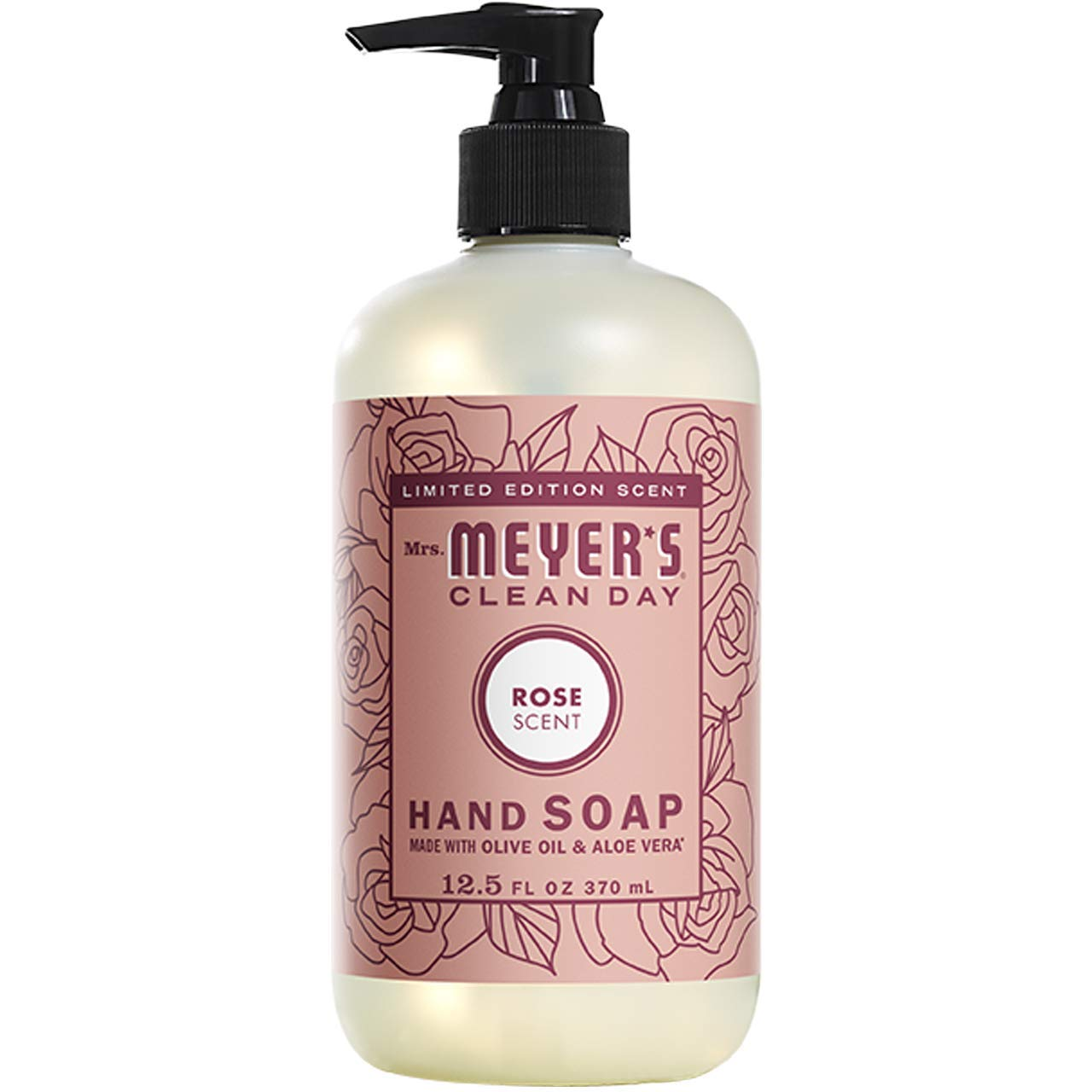 Mrs. Meyer's Clean Day Liquid Hand Soap,Rose 12.5 Oz, (Pack - 6)