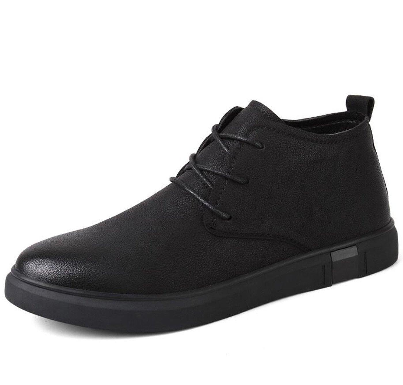 DANDANJIE Zapatos De Los Hombres De Terciopelo Caliente De Algodón Zapatos 2018 Otoño E Invierno Modelos Hechos A Mano Botas De Cuero Casual,Black,38EU 38EU|Black