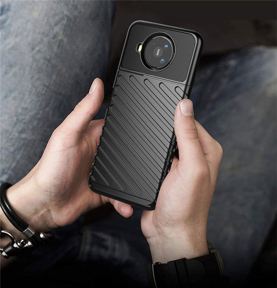 Haotian Compatible pour /Étui Nokia 8.3 5G Coque Antichoc Ultra Mince en Silicone TPU Souple Rugueuse Solidit/é Complete Protection Housse Vert