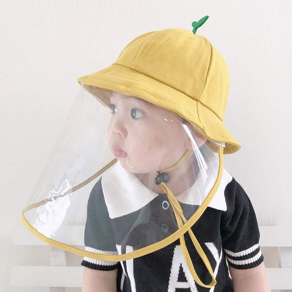 Anti-sputo Cappello Goggle Protettivo Copertina Doppia Protezione Saliva Bambinio bambina Cappello da pescatore Allaperto Cappello Pescatore Bambini