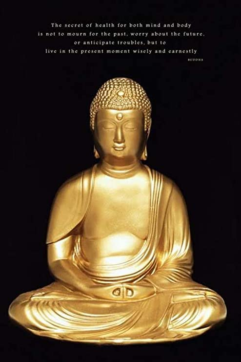 Pyramid Buddha Poster Print