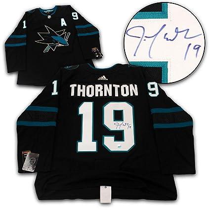 Joe Thornton Signed Jersey - Alternate Adidas - Autographed NHL Jerseys 843d5f41f7f