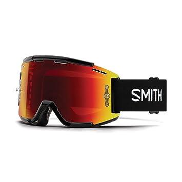 672b128c9f235 Amazon.com  Smith Squad MTB Goggles Black Red Mirror