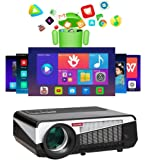 Gzunelic 6500 lumens Android WiFi 1080p Video Projector LCD LED Full HD Theater Proyector with Bluetooth Wireless…