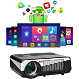 Gzunelic 7500 lumens Android WiFi 1080p Video Projector LCD LED Full HD Theater Proyector with Bluetooth Wireless Synchronize
