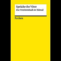 Sprüche der Väter. Das Weisheitsbuch im Talmud: Reclams Universal-Bibliothek (German Edition) book cover