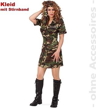 Party-Chic-Disfraz de ejército para Mujer con Cinta para la Frente ...