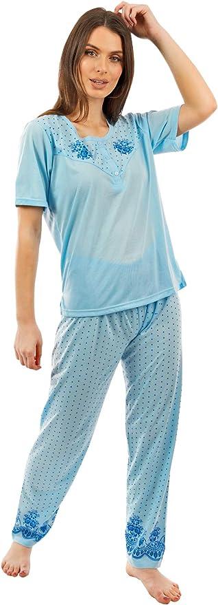 i-Smalls Conjunto de pijama de manga corta para mujer, diseño de perejil