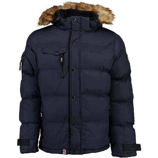 Anorak para hombre Geographical Norway Behar, chaqueta de invierno, chaqueta cálida con forro, tallas S-XXXL azul marino XXL : Amazon.es: Ropa y accesorios