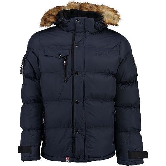 Anorak para hombre Geographical Norway Behar, chaqueta de invierno, chaqueta cálida con forro, tallas S-XXXL