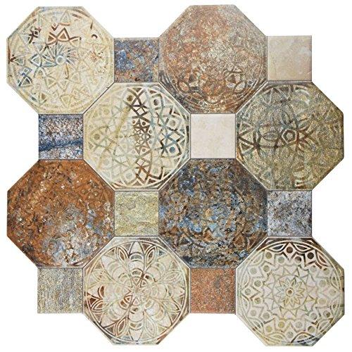 SomerTile FCG18SXD Silema Ceramic Floor and Wall Tile, 17.75