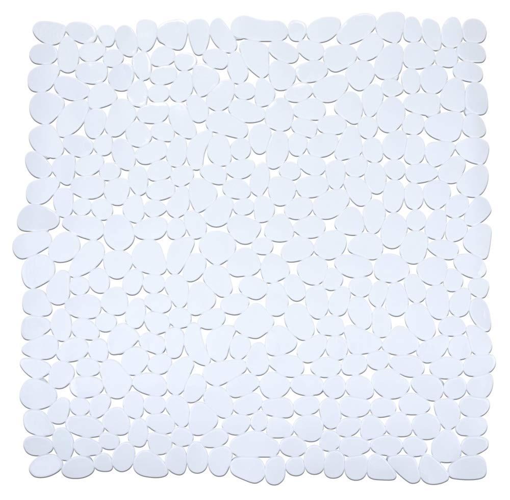54 x 54 cm Antirutsch-Duschmatte mit Saugn/äpfen WENKO 22500100 Duscheinlage Paradise Anthrazit Polyvinylchlorid Anthrazit