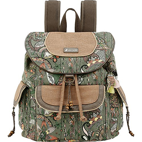 Sakroots Artist Circle Flap Backpack (Olive Spirit Desert)