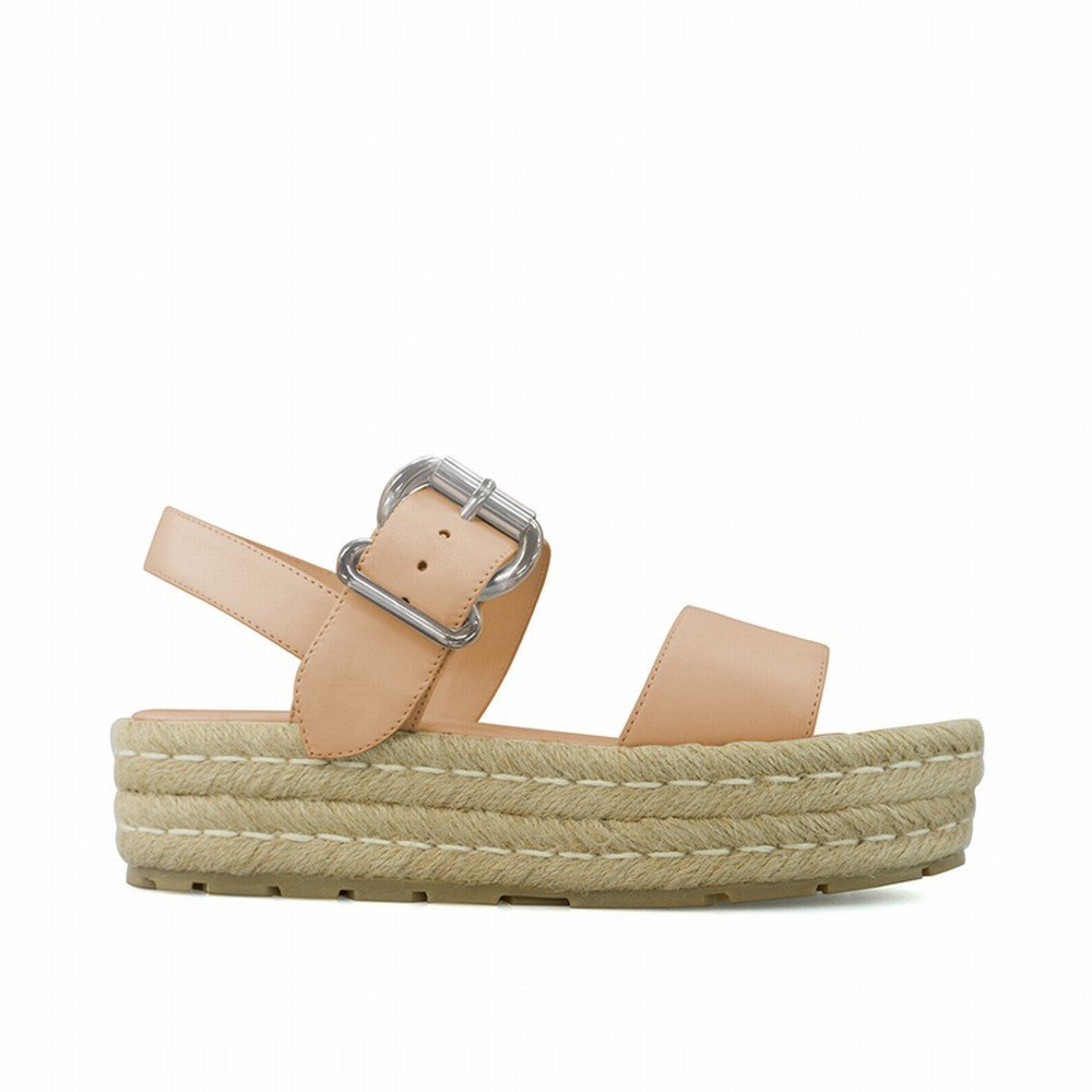 DIDIDD DIDIDD DIDIDD Ein-Knopf-Schnalle Plattform Sandalen Sandalen Urlaub Hochhackigen Studenten Open-Toe-Schuhe,Aprikose,37 b17fa7