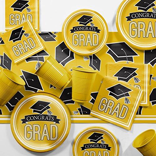 2018 Graduation School Spirit Yellow Party Supplies Kit